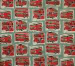 "Cushion Cover in Cath Kidston London Red Buses 14"" 16"" 18"" 20"""